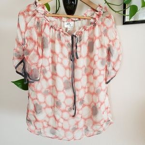 Milly pink blouse size 2